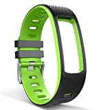 iWOWNfit i6 HR/i6 HRC Wristband TPU Replacement Band HR Strap Soft Silicone Sport Strap with Buckle for Smart Bracelet green