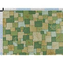 Tela de tapicería, tapicería tela, tapicería tela, cortina, tela - popurrí que, Mira, verde amarillento - ante micro de calidad en protección de manchas y diseño abstracto moderno