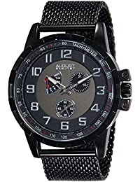 August Steiner Reloj de cuarzo  Negro 47 mm