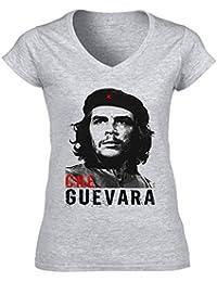 teesquare1st CHE Guevara Ernesto Camiseta para Mujer de Algodon b0fd6c134f8e7
