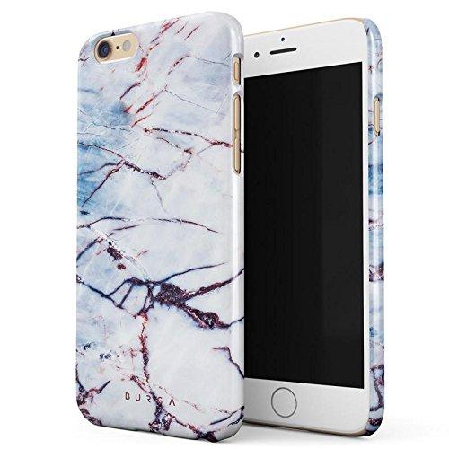 iPhone 6 / 6s Hülle, BURGA Angel Wings Blue Cracked Marble Dünn, Robuste Rückschale aus Kunststoff Für iPhone 6 / 6s Handyhülle Schutz Case Cover (Teal Color-iphone 6 Case)