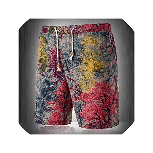 Men's Fashion Summer Print Casual Shorts Young Men's Summer Travel Slim Beach Shorts 14 Colors Asian Size M 4XL,C,4XL - Style 4 Drawer Dresser
