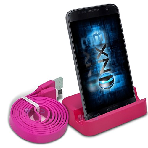 Stand Lg Base (ONX3® (Pink) LG K11 Desktop USB Base Stand Data Sync Charging Dock Station + Data Sync Cable)