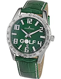 Jacques Lemans Herren-Armbanduhr XL Golftimer Analog Quarz Leder 1-1701A
