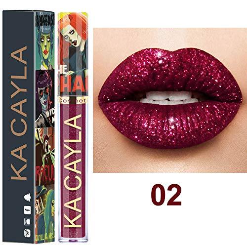 Quaan Sexy 8 Farben Lippenstift, Nackt Metallisch Matt Samt Glänzend Lipgloss dauerhaft solide Wasserdicht Lippenstift Lippe Sahne