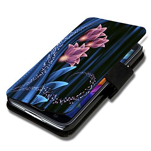 Book Style Flip Handy Tasche Case Schutz Hülle Schale Motiv Foto Etui für Huawei Ascend Mate 7 - X10 Design2