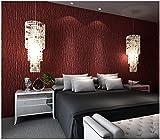 Yosot Moderner Minimalistischer Weinrot-Tapeten-Tapete-Warmer Schlafzimmerkorridor-Ebene Stoff