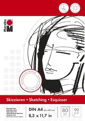 marabu-161200044-album-per-schizzi-a4-80-fogli-90-g
