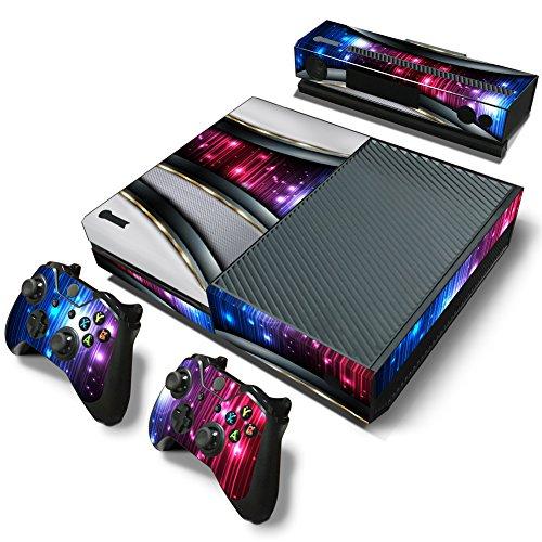46 North Design Xbox One Folie Skin Sticker Konsole Silver Galaxy aus Vinyl-Folie Aufkleber Und 2 x Controller folie & Kinect Skin