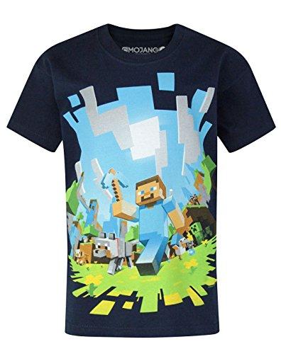 Official Minecraft Adventure Boy's T-Shirt (7-8 Years) (Tee Baby-jungen-short Sleeve)