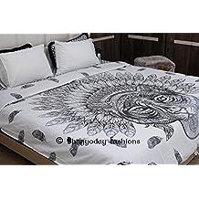 indian African Tiger Tapestry Mandala copripiumino, Bohemian Bedding Decor, Hippie,