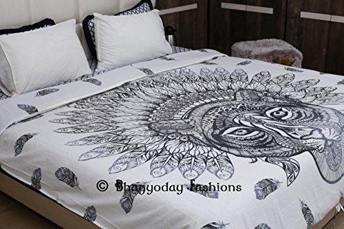 bhagyoday fashions- indischen Mandala Bettwäsche Doona, Bohemian afrikanischen Tiger Tröster, Decke, Quilt, Queen Size Betten