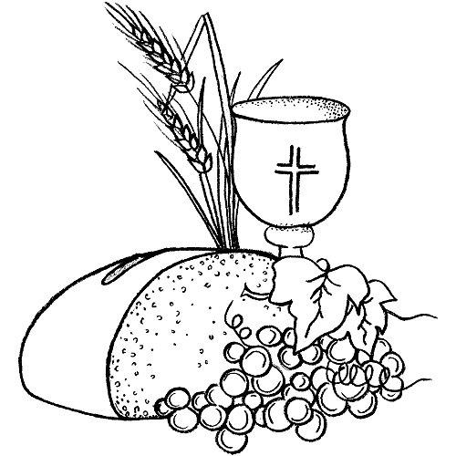 RAYHER Stempel Brot und Wein, Silikon, Transparent, 8 x 7 x 2.5 cm, 1 Einheiten