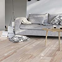 Revestimiento de PVC para suelos con aspecto y color de madera retro de Livingfloor®, 2 m de ancho, longitud variable