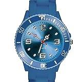 Taffstyle Farbige Sportuhr Armbanduhr Silikon Sport Watch Damen Herren Kinder Analog Quarz Uhr 34mm Marineblau