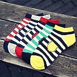 MOIKA Herren Sportsocken Falke,Unisex-Streifen-Baumwoll-Skateboard-Socken-Bequeme Socken Casual Socken für MOIKA Herren Sportsocken Falke,Unisex-Streifen-Baumwoll-Skateboard-Socken-Bequeme Socken Casual Socken
