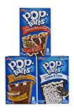 Kellogg's Pop Tarts Frosted Chocolate Chip Cookie Dough 8 ct 400g, Kellogg's Pop Tarts Frosted S'mores 8 ct 400g, and Kellogg's Pop Tarts Cookies & Cream 8 ct 400g - 3 Pack Bundle