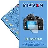 6x Mikvon SuperClear Película de protección de pantalla para Nikon D3300 - transparente - Protectores de pantalla fabricado en Alemania