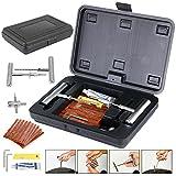 Yahee Reifen-Reparatur-Set 36tlg Flicken Satz Auto Reifen Pannenset Flickzeug Werkzeug Koffer