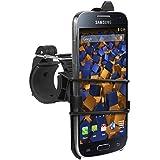 mumbi Système de fixation sur guidon Samsung Galaxy S4 mini de Vélo / Moto - sécurité totale en portrait / paysage