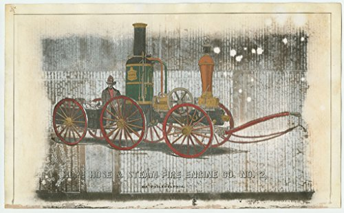 POSTER Hope Hose & Steam Fire Engine Co no 2 October 1859 View fire engine built Reaney Neafie 1858 for the