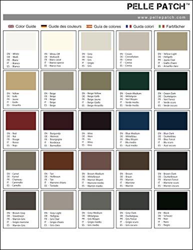 Pelle Patch - Guide des couleurs