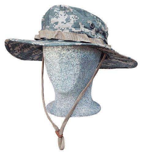 Commando Industries US Army Tropen Hut Boonie Hat Buschut Ripstop Schlapphut in verschiedenen Farben und Größen (ACU-Tarn, M) (Boonie Hut Acu)