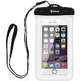 Vakoo Funda Impermeable - Universal Impermeable Bolsa Funda para iPhone 7 7 Plus 6s 6 5s Huawei P8 Lite Samsung Gaxaly S5 S6 S7, Bolsa IPX8 Certificado Impermeable Transparente, Funda Playa para Movíl Universal de 6 Pulgadas (Blanco)