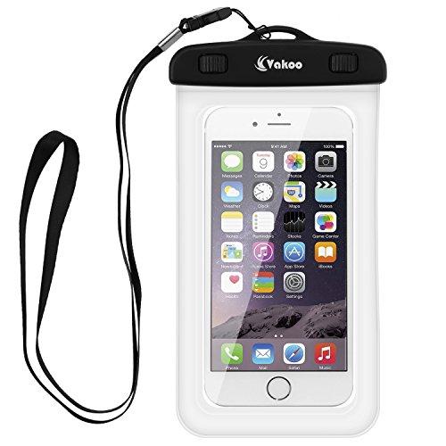 Vakoo-Funda-Impermeable-Universal-Impermeable-Bolsa-Funda-para-iPhone-7-7-Plus-6s-6-5s-Huawei-P8-Lite-Samsung-Gaxaly-S5-S6-S7-Bolsa-IPX8-Certificado-Impermeable-Transparente-Funda-Playa-para-Movl-Univ