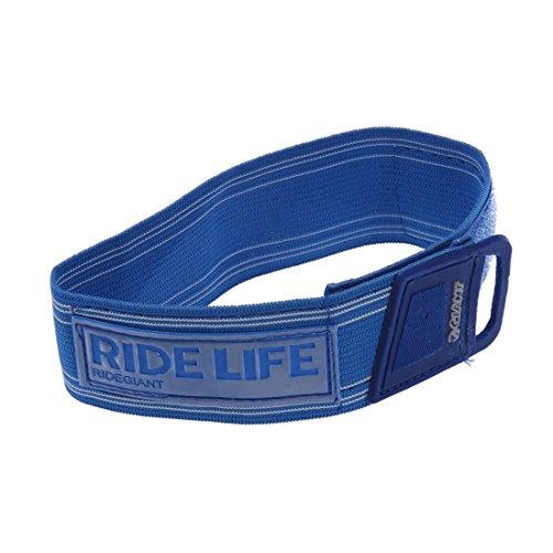 SODIAL (R) Fahrrad Hallo Viz Reflexstreifen Hose Pant Clips Band binden Knoechel Sicherheit - blau