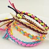 CWAIXX Haar Accessoires Sehr elastisches Gummiband Farbabgleich Twist Zopf Knoten super elastischen Haargummis Bungee Seil