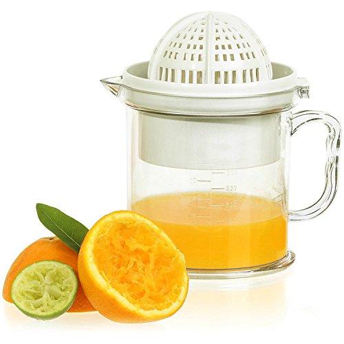 Tailcas® Fashionable Küchen 2 in1 Multi Funktions Manuelle Handpresse Orangen, Grapefruit, Zitrone, Kiwi, Citrus,Wassermelone, Erdbeere, mango Squeezer Saft Entsafter Saftpresse Zitronenpresse Orangenpresse mit Auffangbehälter Erdbeer-kiwi-saft