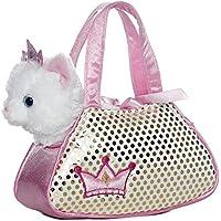 Aurora Fancy Pals - Bolso con gato de peluche (20,3 cm), color blanco - Peluches y Puzzles precios baratos