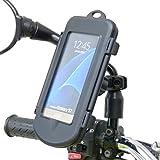 Buybits Wasserdichte Motorrad Roller Fahrrad-Spiegel Halterung für Samsung Galaxy S7