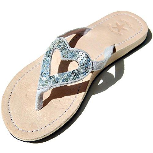 seestern-damen-echtleder-zehentrenner-zehensandale-zehensteg-sandalen-ingr36-39-silber-eur-39