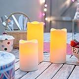 3er Set LED Kerzen für Außen mit Zeitschaltuhr Lights4fun