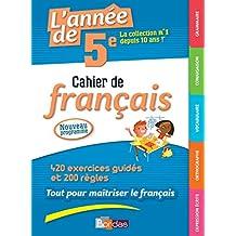 L'année de 5e - Cahier de français