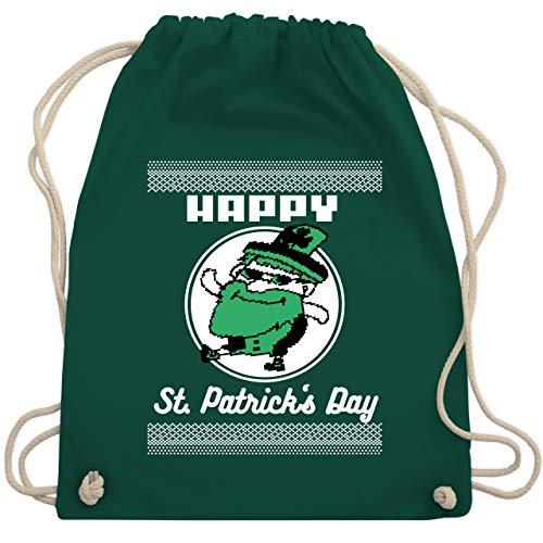 St. Patricks Day - Happy St. Patrick's Day Pixel - Unisize - Dunkelgrün - WM110 - Turnbeutel & Gym Bag
