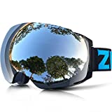 ZIONOR Lagopus X4 Occhiali da sci Snowboard Anti Nebbia Magnetic Lens-swap Tech 100% Protezione UV400 Smooth Air-flow Vista Panoramica Cinghia Regolabile per Sci Snowboard Unisex