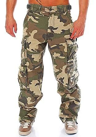 JET LAG Cargohose Modell 007, Farbe:Camouflage;Größe:S/30