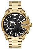 Diesel Herren Analog Quarz Uhr mit Edelstahl Armband DZT1013