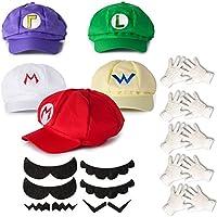 Katara - Juego para disfraz de Super Mario Bros (5 gorras, 6 bigotes,