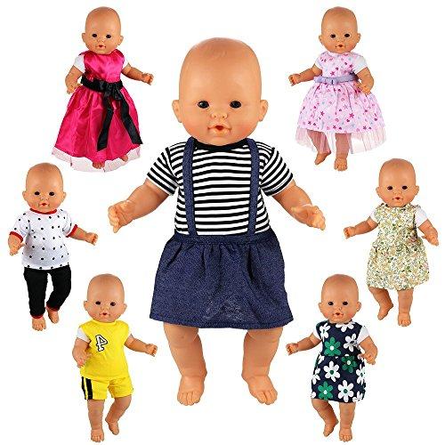 Miunana 7X Traje de Vestidos Ropas Lindo Casual para American Girls Doll 36 - 46 cm Bady Muñeca