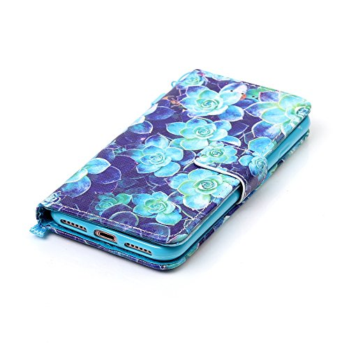 Custodia per iPhone 7 4.7,BtDuck Libro Stand Case Cover in PU pelle Borsa e Portafoglio Tasca Ultra Sottile Morbido Silicon Gel Back Case Bumper Cover Custodia in Premium PU Pelle per iPhone 7 4.7 Tel #9