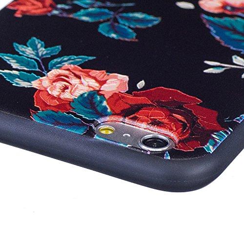 BONROY® Apple iPhone 6 / 6S Plus Coque Housse Etui,Fashion Belle Ultra-Mince Thin Soft Silicone Etui de Protection pour Souple Gel TPU Bumper Poussiere Resistance Anti-Scratch Case Cover Couverture Po carthame