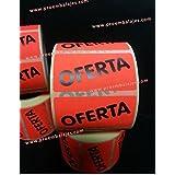 Etiquetas OFERTA - Rollo de 500 unidades - Tamaño: 50x25 mm.