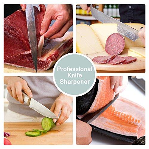 Yododo Premium Whetstone Messer Sharpener – 400/1000 Korn Zwei Sided Wet Schärfstein. - 5