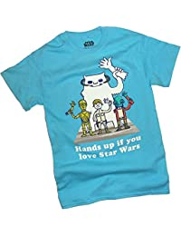 """Star Wars -- """"Hands Up If You Love Star Wars"""" Adult T-Shirt"""