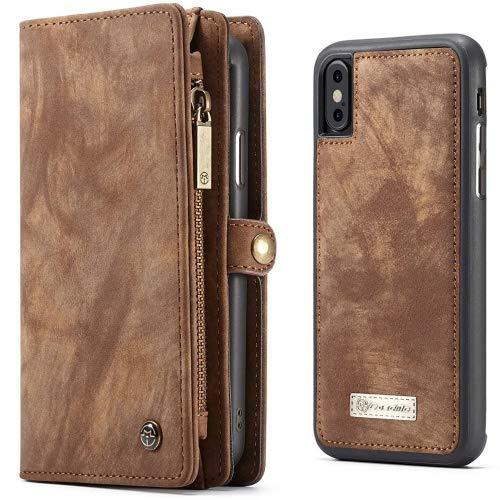 e2f7ea0b2c0 Leather Wallet Phone Case iPhone 8 Plus 7 Plus Premium Zipper Flip Wallet  Case Cover