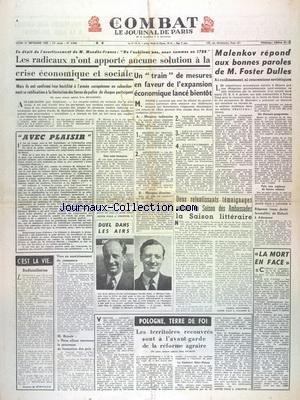 COMBAT [No 2866] du 21/09/1953 - LES RAD...